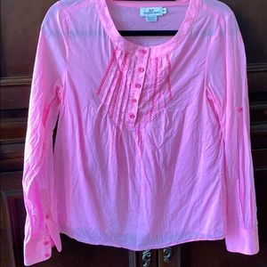 Vineyard vines hit pink blouse xs